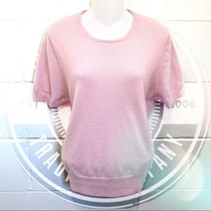 Super cute Valerie Stevens Pink cashmere Sweater
